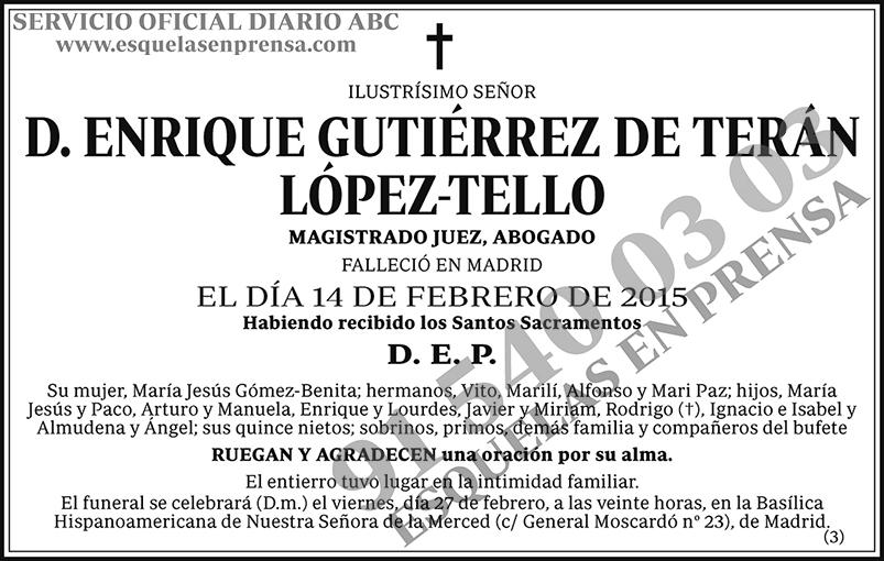 Enrique Gutiérrez de Terán López-Tello